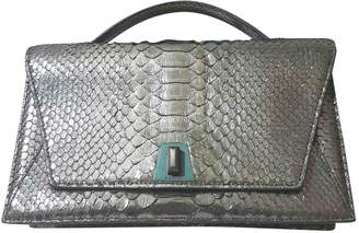 Akris Grey Python Handbag