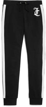 Juicy Couture Black Label Girls' Jogger Pants with Side Stripes - Big Kid