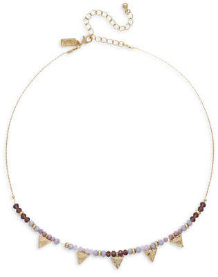 Canvas Triangle Beaded Necklace