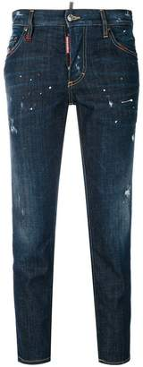 DSQUARED2 cropped Boyfriend straight jeans