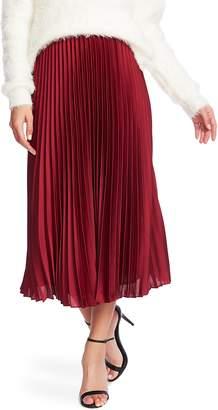 1 STATE 1.STATE Charmeuse Pleated Midi Skirt