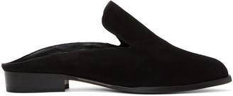 Robert Clergerie Black Suede Alicem Slip-On Loafers $495 thestylecure.com
