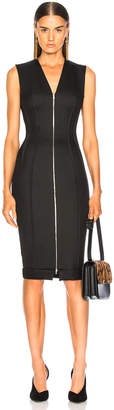 Victoria Beckham V-Neck Fitted Dress in Black | FWRD