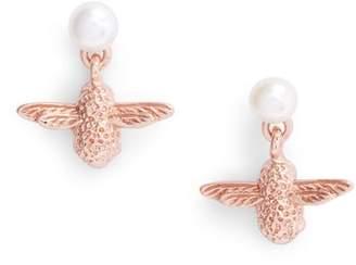 Olivia Burton Imitation Pearl Bee Earrings