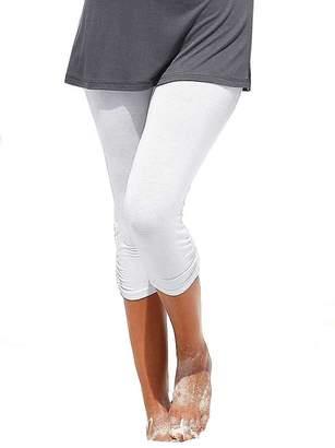 Elegance1234 Elegance Womens Extra Plus Size Cropped Elasticated Plain Viscose Leggings (X-Large (US 12/UK 16), )