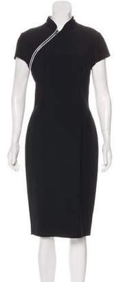 Alexander McQueen Zip-Front Midi Dress