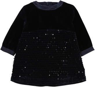 Billieblush Velvet & Sequin Long-Sleeve Dress, Size 12-18 Months