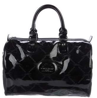 Longchamp Patent Leather Boston Bag
