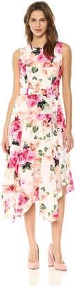 Calvin Klein Women's Belted Hankerchief Dress