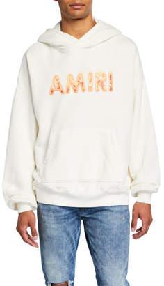 Amiri Men's Flame Logo Pullover Hoodie