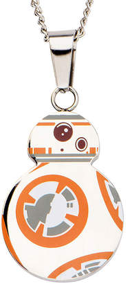 Star Wars FINE JEWELRY Stainless Steel Episode VII BB-8 Droid Cutout Pendant Necklace
