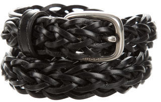 GucciGucci Leather Woven Belt w/ Tags