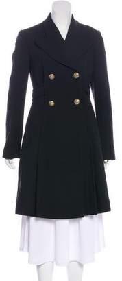 Versace Knee-Length Wool Coat
