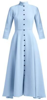 Emilia Wickstead Ashton Wool Crepe Dress - Womens - Light Blue