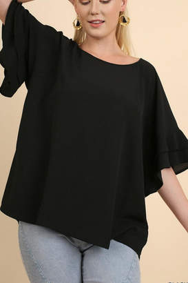 Umgee USA Layered Ruffle Sleeve