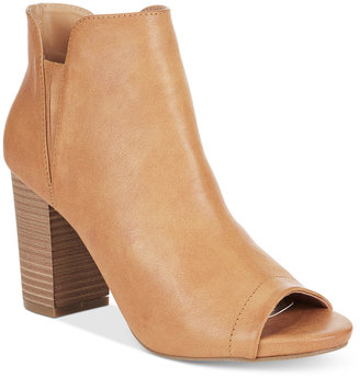 Madden Girl Fizzle Peep-Toe Booties $69 thestylecure.com