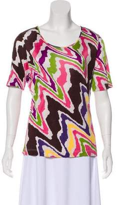 Missoni Short Sleeve Print Top