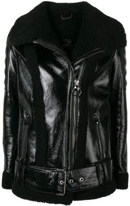 Philipp Plein PP 1978 leather jacket