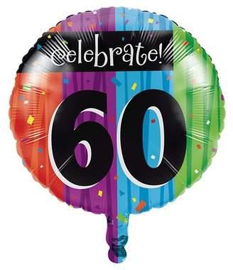 Creative Converting Milestone Celebrations 60th Birthday Mylar Balloon