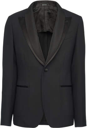 Alexander McQueen Satin-Trimmed Shawl Collar Tuxedo Jacket