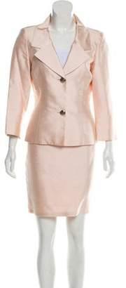Dolce & Gabbana Silk Skirt Suit