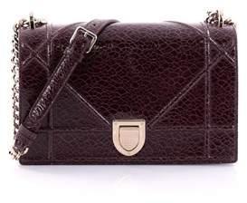 Christian Dior Pre-owned: Diorama Flap Bag Crackled Deerskin Medium.