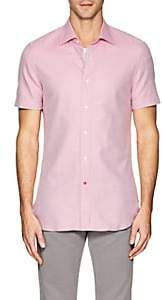 Isaia Men's Neat Cotton Shirt - Pink