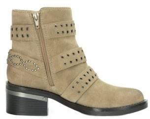 GUESS Fifi Studded Suede Booties