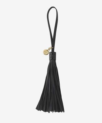 GiGi New York Leather Bag Tassel, Black