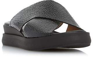 Dune Black Ladies LUST Cross Strap flatform Slider Sandal in Black Size UK 3