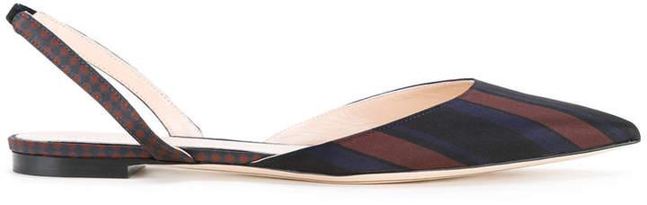 Nina Ricci striped slingback sandals