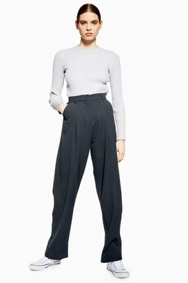 Topshop Womens **Essential Peg Trousers By Boutique - Grey