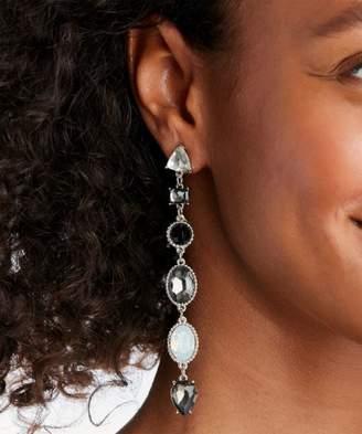 Sole Society Linear Crystal Drop Earrings