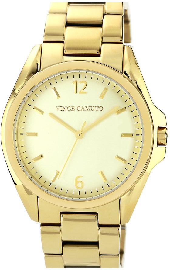 Vince Camuto Curved Crystal Bracelet Watch, 42mm