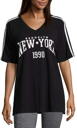 Flirtitude New York Oversized Tee - Juniors