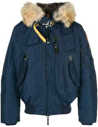 Parajumpers fur trimmed dip front jacket