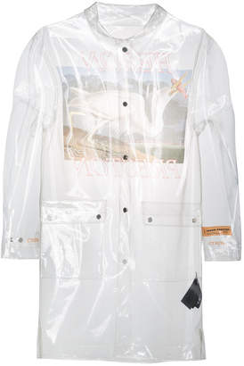 Heron Preston Transparent rain coat