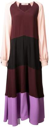 Marni colour-block maxi dress