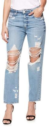 Paige Noella Ripped Straight Leg Jeans