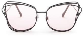 Betsey Johnson 3-D Cat Eye Sunglasses
