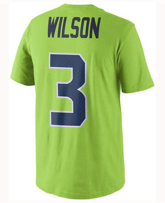Nike Men's Russell Wilson Seattle Seahawks Color Rush Name & Number T-Shirt