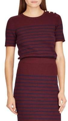 Lauren Ralph Lauren Striped Short-Sleeve Sweater