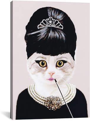 iCanvas icanvasart Audrey Hepburn Cat