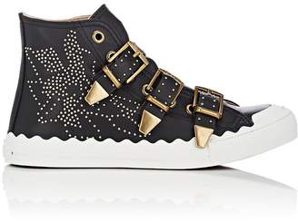 Chloé Women's Kyle Studded Leather Sneakers
