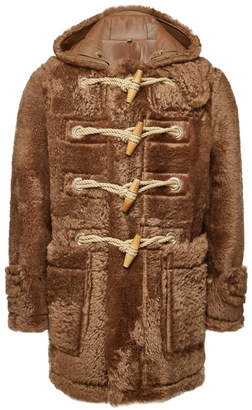Burberry Shearling Coat with Leather
