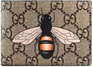 Bee print GG Supreme wallet $295 thestylecure.com