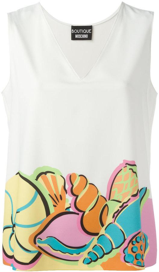 MoschinoBoutique Moschino mermaid print T-shirt
