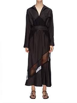 CHRISTOPHER ESBER Lace Belted Shirt Dress