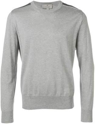 Canali shoulder patch jumper