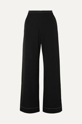 Georgia Alice - Bella Cady High-rise Wide-leg Pants - Black